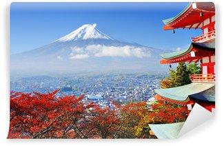 Vinylová Fototapeta Mt. Fuji na podzim s Chureito Pagoda