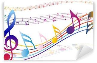 Vinylová Fototapeta Multicolour hudební