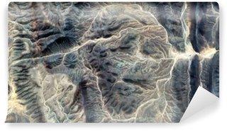 Fototapeta Winylowa Mumia, abstrakcyjne pejzaże pustyniach Afryki, kamienna twarz, abstrakcyjnych stock pustyniach Afryki z powietrza, abstrakcyjnego surrealizmu, miraż na pustyni, fantazji kamienia, Ekspresjonizm abstrakcyjny