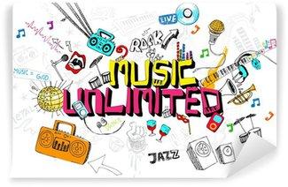 Vinylová Fototapeta Music Unlimited