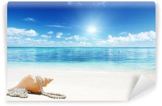 Vinylová Fototapeta Mušlemi a Perls na pláži