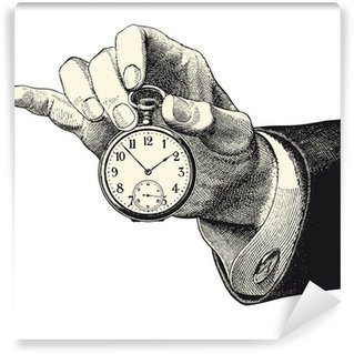 Vinylová Fototapeta Muž držel hodinky