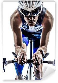 Vinylová Fototapeta Muž triatlon iron man sportovec cyklista na kole
