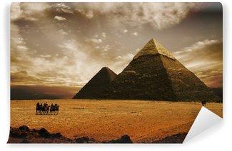 Vinylová Fototapeta Mystické pyramidy