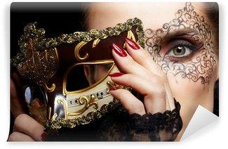 Vinylová Fototapeta Nádherná žena v masce