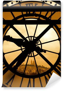 Fototapeta Vinylowa Najświętszego Serca Pana Jezusa i zegar