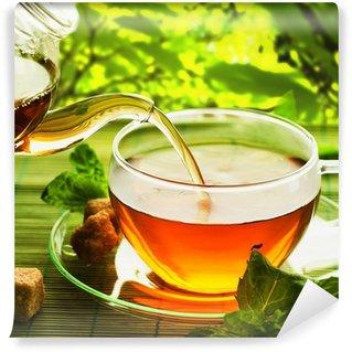 Vinylová Fototapeta Nalévání zdravý čaj