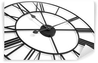 Vinylová Fototapeta Nástěnné hodiny na bílém pozadí zobrazující čas