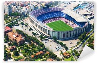 Vinylová Fototapeta Největší stadion Barcelony z vrtulníku. Katalánsko