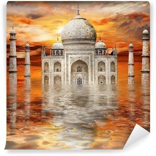 Vinylová Fototapeta Neuvěřitelná Indie - Tadj Mahal na západ slunce