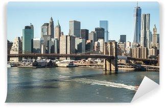 Vinylová Fototapeta New York Brooklyn Bridge centru panorama