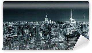 Vinylová Fototapeta New York City Manhattan panorama v noci