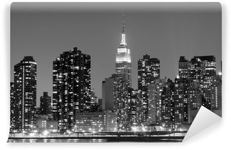 Vinylová Fototapeta New York City v Night Lights, Midtown Manhattan