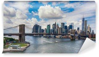 Vinylová Fototapeta New York City v záři zapadajícího slunce