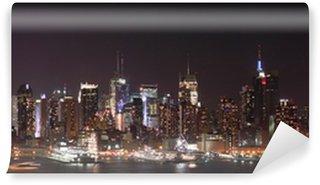 Fototapeta Vinylowa New York noc skyline