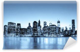 Fototapeta Vinylowa New York skyline monochromatique.