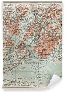 Fototapeta Vinylowa New York starych map