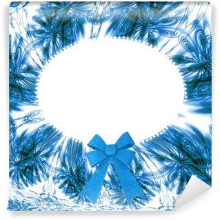 Fototapeta Winylowa Niebieski owalne ramki kwiatu