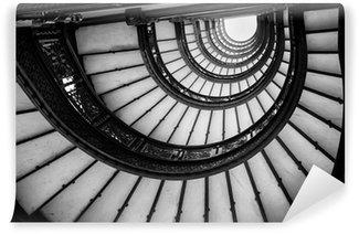 Fototapeta Winylowa Niski kąt widzenia spiralne schody, Chicago, Cook County, illino
