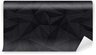 Vinylová Fototapeta Nízká polygon tvary pozadí, trojúhelníky mozaiku, vektor design, kreativní pozadí, šablony designu, černé pozadí