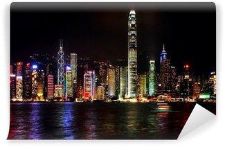 Vinylová Fototapeta Noc Honkong