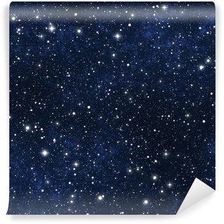 Fototapeta Winylowa Nocne niebo gwiazdy wypełnione