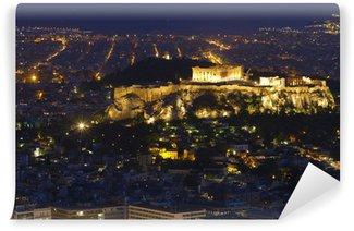 Vinylová Fototapeta Noční pohled na Parthenon a Akropole v Aténách Řecko