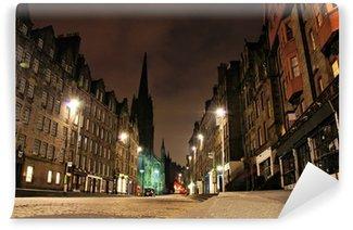 Vinylová Fototapeta Noční pohled na Royal Mile, Edinburgh, Skotsko