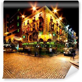 Vinylová Fototapeta Noční pohled na Temple Bar Street v Dublinu, Irsko