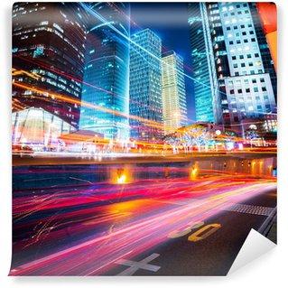 Vinylová Fototapeta Noční scéna moderního města