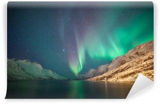 Vinylová Fototapeta Northern Lights, Ersfjordbotn, Tromso, Norsko