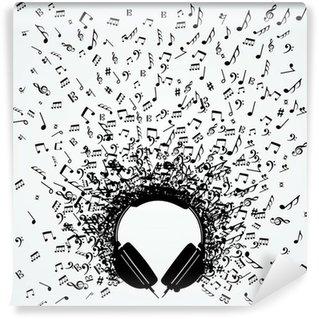 Vinylová Fototapeta Noty od sluchátka izolované designu