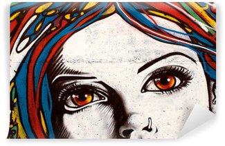 Fototapeta Winylowa Nowoczesny styl graffiti na ceglany mur.