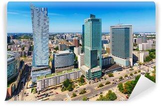Vinylová Fototapeta Obchodní centrum ve Varšavě v Polsku