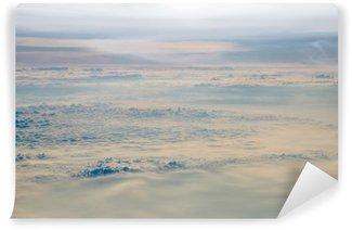 Vinylová Fototapeta Obloha a mraky z letadla nad Bulharskem