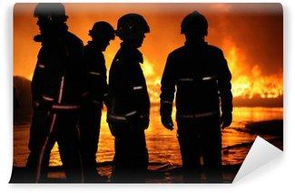Vinylová Fototapeta Oheň posádky při velkém požáru