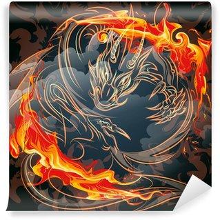 Vinylová Fototapeta Ohnivý drak