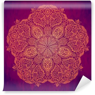 Vinylová Fototapeta Okrasné kolo krajky vzor, kruh pozadí s mnoha detai