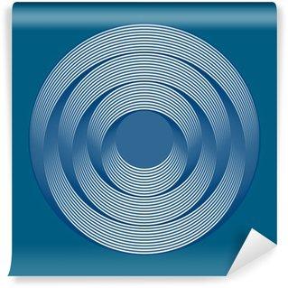 Fototapeta Winylowa Okręgi efekt optyczny - kolor niebieski w tle
