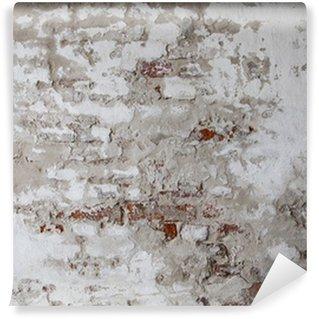 Fototapeta Winylowa Old Red Brick Wall z betonie