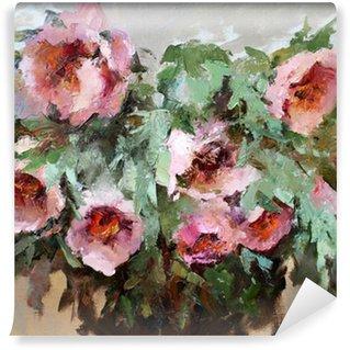 Vinylová Fototapeta Olejomalba z nejkrásnějších květin.