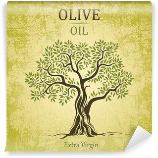 Vinylová Fototapeta Olivovník. Olive oil.Vector olivovník. U štítků, balení.