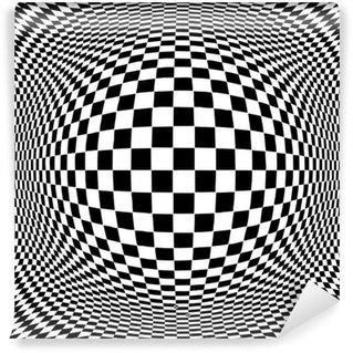 Fototapeta Winylowa Op Art Abstract Design Wzór iluzja, hipnoza, szczep stresu
