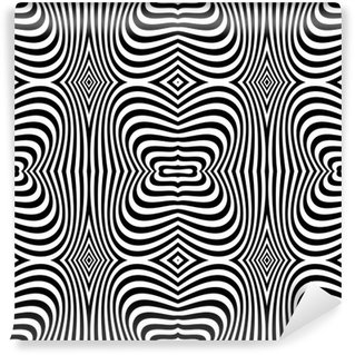 Fototapeta Winylowa Op-art bez szwu tekstury. Projekt zebra.