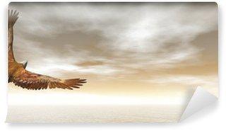 Vinylová Fototapeta Orel bělohlavý létání - 3D render
