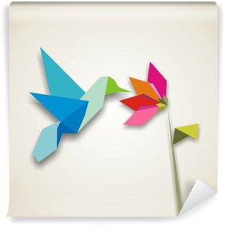 Vinylová Fototapeta Origami kolibřík