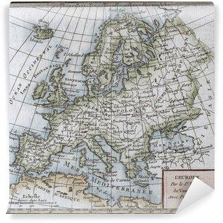 Vinylová Fototapeta Originální starožitný Mapa Evropy