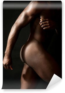 Vinylová Fototapeta Oříznuté obraz nahé africké mladík