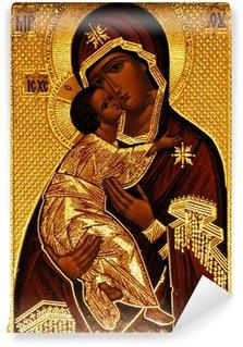 Vinylová Fototapeta Ortodoxní ikona Panny Marie, Vladimirskaya