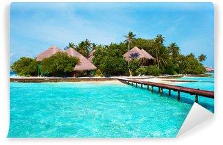 Vinylová Fototapeta Ostrov v oceánu. Vítejte v ráji!